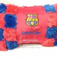 Jual Bantal Kapas Dakron Boneka Bordiran Club Bola Barcelona Terbaru Murah