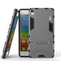 Hard Soft Case Lenovo A7000 Plus Casing HP Silikon Cover Armor Stand