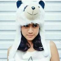 Topi Hewan Panda Dewasa - Panda Animal Hat Kado Ulang Tahun Tp