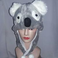 Topi/Kupluk Hewan Koala Abu - Grey Animal Hat Kado Ulang Tahun Tp