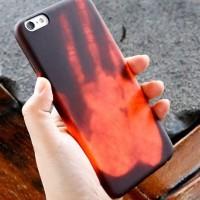 Jual iPhone 7 Heat Sensor Panas Hard Case Casing Cover Kesing Unik Keren Murah
