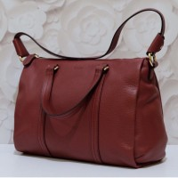 Bally Danya Small Satchel in Dark Red