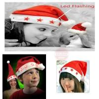 Jual Topi Natal Santa Claus Lampu Led  Murah