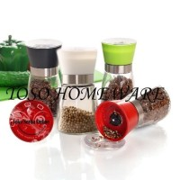 Glass Salt Pepper Mill Manual Grinder Gilingan Lada Merica Bumbu