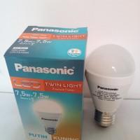 Lampu Panasonic/LED TWIN LIGHT/2Warna di1 Lampu/7.5w-7.5w/Puith Kuning
