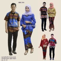 Jual SRG 554 Sarimbit setelan blus rok lilit lengan trompet Prada batik Murah