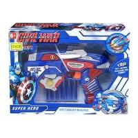 Jual New Mainan Anak Pistol Soft Blaster Nerf Captain America Avengers Gun Murah