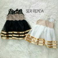 Baju/Dress Pesta/Kondangan Anak Bayi Perempuan Gold