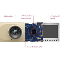 Jual XiaoMi XiaoYi 1080P Wifi Car DVR Camera with ADAS Sistem - Hitam/Gold Murah
