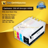 Cartridge CISS HP950 / Hp951 HP Officejet Pro 8100 / 8600 Auto Reset