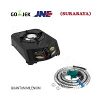 Paket Kompor Gas QGC 101 R Dan Selang Regulator LPG QRL 032 Quantum