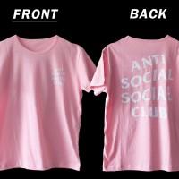Jual Tumblr Tee / T-Shirt / Kaos Wanita Anti Social Social Club Warna Pink Murah