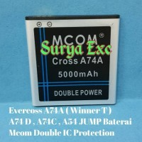 Baterai Battery Evercoss A74A Double Power
