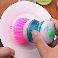 Jual grosir Alat sikat panci inovatif dispenser sabun cair brush soap dapu Murah