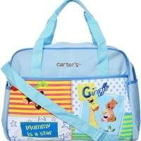 CARTER'S Diaper Bag Monkey Giraffe (Mommy is A Star) / Baby Blue Murah