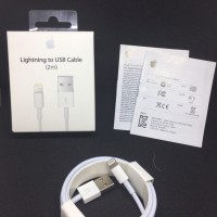 KABEL DATA LIGHTNING CHARGER CABLE 2M FOR IPHONE 5 5S 6 6S 7 ORIGINAL