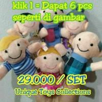 Jual Grosir Boneka Jari Keluarga Family Finger Puppets Mainan Edukasi Murah