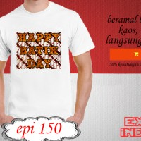 Kaos desain TRAVELLER happy batik day EPI 150