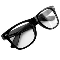 Jual Retro Aviator Sunglasses Square Lens - Kacamata Wanita - Hitam - RAS Murah