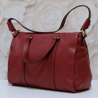 Bally Danya Small Satchel (Dark Red)