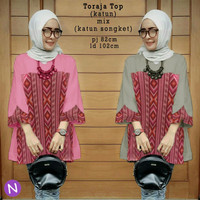 Jual Terlaris 58302 toraja top/baju tunik murah/atasan muslim wanita murah Murah