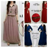 Jual atk Maxi dress hijab syari polos simple elegan  gaun pe Murah Murah