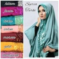 Jual Syiria Turki Sequin / Khimar Turki Sequin / hijab / jil Limited Murah