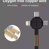 Jual REMAX Lesu 3 in 1 Cable / Micro USB + Lightning + Type C / Kabel Data Murah
