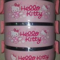 Jual Lunch box / Rantang stainless susun 3 Hello kitty Diskon Murah
