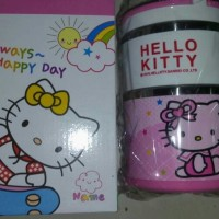 Jual lunch box / rantang stainless karakter hello kitty susu Berkualitas Murah