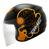 Helm Bmc Milan cartoon doraemon retro black / orange Limited
