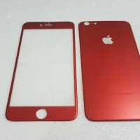 Jual Iphone 6 / 6S (2 in 1) Premium 3D Glass RED with camera protector RE  Murah