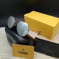 Jual KACAMATA WANITA/ CEWE FENDI 194 SILVER GOLD  BOX FASHION Murah