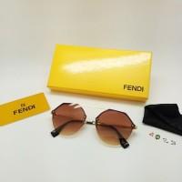 Jual KACAMATA WANITA/ CEWE FENDI 8253 COKLAT  BOX FASHION Murah