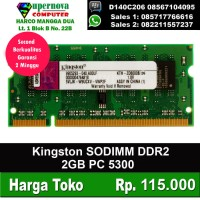 Jual Memory RAM Laptop DDR2 2GB SODIMM Kingston Murah