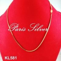 Jual Kalung Cassandra Lippo Lipo Santa Silver 925 lapis emas korea kuning Murah