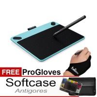Jual WACOM Intuos Art Medium Blue CTH690/B0 Gloves, Softcase, proskin Murah