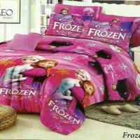 Jual set bed cover karakter frozen Murah