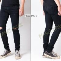 Jual celana jeans pria sobek / robek lutut model skinny untuk cowok c-45 Murah
