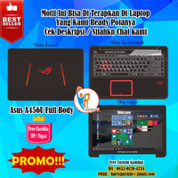 [Promo] Garskin Laptop Full Body Asus A456U Motif ROG -Free Custom