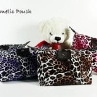 Jual (Leopard) Pouch Tas Kosmetik Bag Make Up Body Lotion Aksesoris, Murah