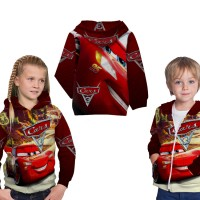 Jaket Hoodie Sweater Anak Unisex CARS 3 3D Full Printed - Art 2