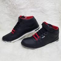 Sepatu Fashion Sekolah Velo Jaguar Hitam Merah Sz 41