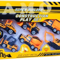 DIECAST CONSTRUCTION PLAYSET ISI 6PCS - DIE CAST METAL