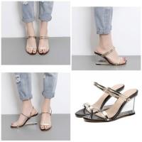 Sepatu Heels Fashion Shoes Import 2631 Hak Transparan Pesta Kondangan