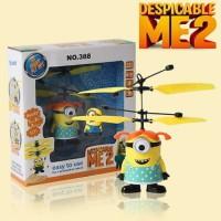 Jual mainan anak flying minion terbang remote Murah