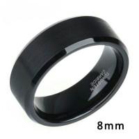 Cincin Premium 4mm 6mm 8mm Black Tungsten Carbide Ring High Polished