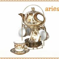 VICENZA Tea Set CROME ARIES GEMINI VIRGO CR 90