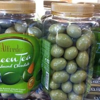 Alfredo Green tea greentea Almond chocolate 450gr
