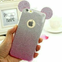 mickey glitter case for hp iphone 4/4s/5/5s/se/6/6s/6+/6s+/7/7+,